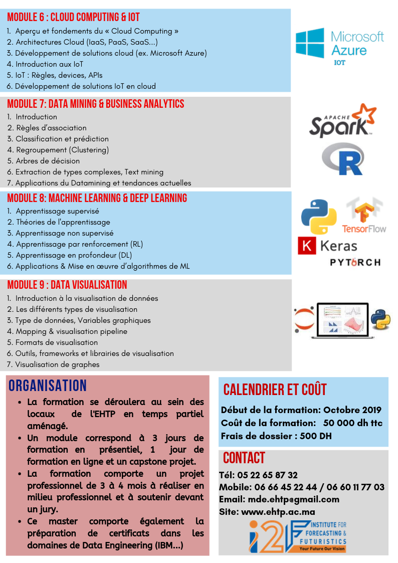 Programme Data Engineering Master EHTP Page 2